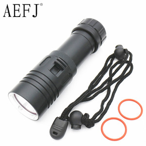 Image 2 - Waterproof IPX8 Diving Flashlight XM L2 Yellow White LED Torch Dive Underwater 80M Lamp Light Camping use 26650 18650 Battery