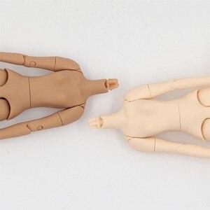 Image 3 - blyth doll icy toy body small chest joint body azone body white skin dark skin natural skin for DIY custom doll