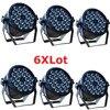6xLot DJ Necessity Disco DMX Lamp LED Par Light 18x12W RGBW Quad Color Home Party Lights