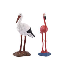 7 Style Simulation Flamingos Parrot Crane Bird Figurine Plastic Miniature Fairy Garden Decoration Modern Figures PVC Statue(China)