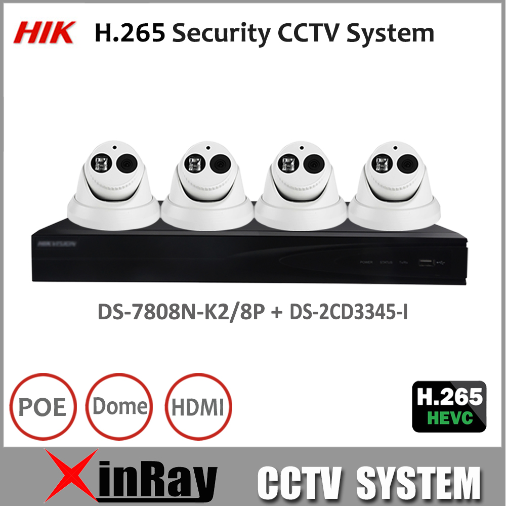Hik Full HD H.265 Security Camera System NVR DS-7808N-K2/8P and 4MP Camera DS-2CD3345-I CCTV Surveillance Camera Kit v n chavda m n popat and p j rathod farmers' perception about usefulness of agriculture extension system