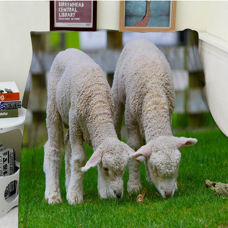 Super Soft Blankets Comfort Plush Machine Wash Cute Sheep Goat Grazing Sofa Bed Throw Cobertor Kids Adults Blanket Thick Thin