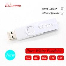 50 шт/лот Логотип Поворотный Белый USB флэш-накопитель memory stick 2 ГБ 4 ГБ 8 ГБ 16 ГБ 32 ГБ
