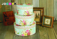 3pcs Set Top Quanlity Birthday Present Box Flower Round Box Cardboard Boxes Gift Packing 0 85kg