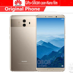 "Global Firmware Huawei Mate 10 Cell phones Android 8.0 3D Curved Glass 5.9""2560*1440P 4000mAh Fingerprint Octa Core 6GB 128GB"