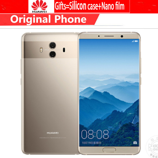 """Fashion Style Global Firmware Huawei Mate 10 Cell Phones Android 8.0 3d Curved Glass 5.9""""2560*1440p 4000mah Fingerprint Octa Core 6gb 128gb Durable In Use"""