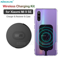 Nillkin for Xiaomi Mi 9 SE Qi Wireless Charging Kit Wireless Charger+Type C Charging Receiver+TPU Case for Xiaomi Mi 9 SE 9SE