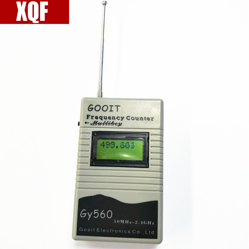 XQF GY560 Mini Digital Frequency Counter Meter Test Range 50MHz - 2400Hz LCD Display for Walkie Talkie GSM Signal Detect