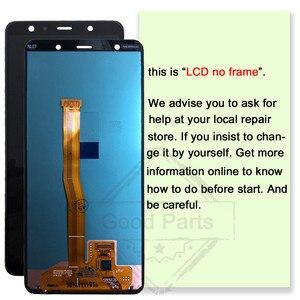 Image 2 - 6.0 AMOLED 100% اختبار لسامسونج غالاكسي A7 2018 A750 LCD SM A750F A750F عرض اللمس إحلال تركيبات الشاشة محول الأرقام