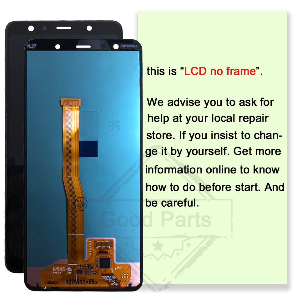 Image 2 - 6.0 AMOLED 100% tested For Samsung Galaxy A7 2018 A750 LCD SM A750F A750F Display Touch Screen Assembly Replacement digitizer-in Mobile Phone LCD Screens from Cellphones & Telecommunications