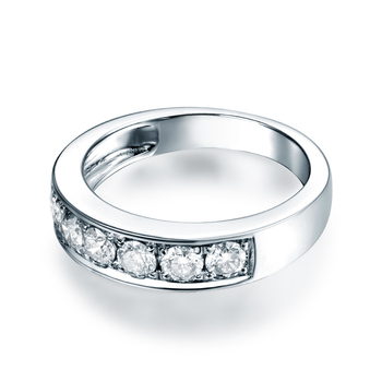 18K Diamonds  White Gold wedding Band 2