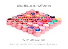 UV LED Lamp & 36 Color UV Gel Nail Art Kit