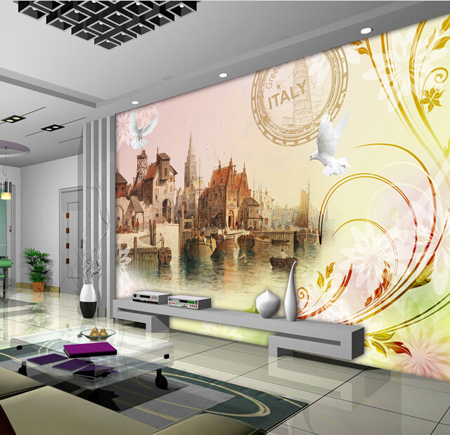 Custom Italian Wallpapers ,the Venice City Government House Church for living room bedroom TV background wall papel de parede