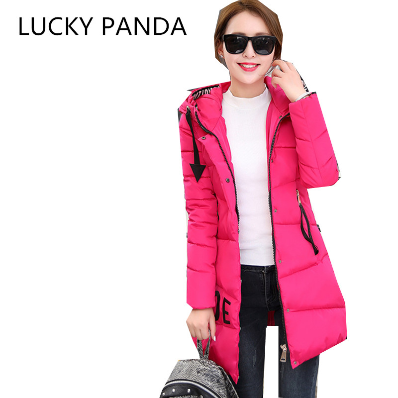 LUCKY PANDA 2016 WOMAN Winter cotton thickened slim slim down in the long coat coat of students LKB186 the woman in the photo