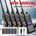 5 ШТ. Baofeng UV-5X Mate Двухдиапазонный двустороннюю Любительское Радио Двойной Дисплей VHF/UHF 136-174 МГц/400-520 МГц + 5x Динамик + 5 XOriginal Батареи
