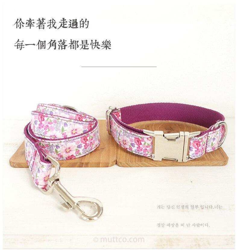 Purple Fl Unique Style Pet Collar