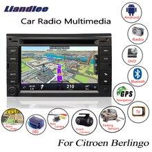 Liandlee Android для Citroen Berlingo 2008 ~ 2017 автомобиль радио CD DVD плеер gps Navi навигации карты камера OBD ТВ Media HD экран