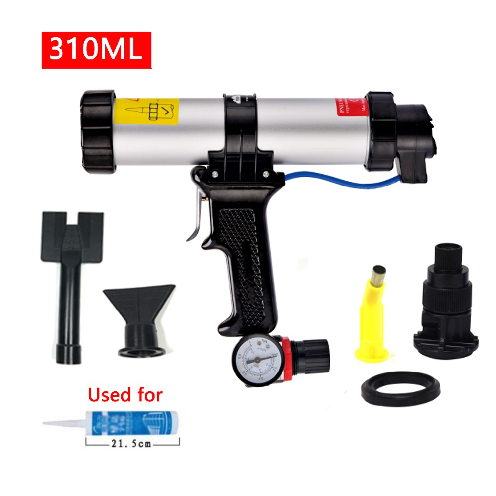 ZQXYSJ New Arrival 310ml Cartridge Gun 9-inches Air Pneumatic Sealant Air Caulking Gun For Auto Cars Use With The Silencer Ab