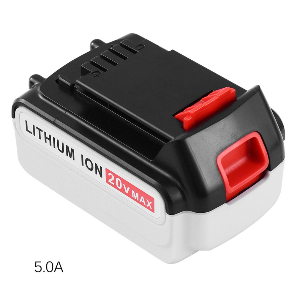 20V 5.0Ah Lithium Ion Battery For Black & Decker Durable Li-Ion Battery Professional Replacement Battery Power Tool leather printing ink belt printer ink haiwn pg600 c