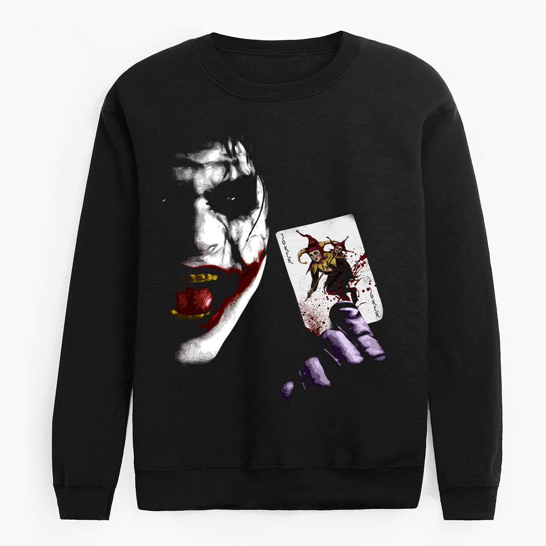 2020 New Arrival Long Sleeve Tracksuit Funny Joker Streetwear Sweatshirts Batman Hip Hop Fleece Brand Clothing Black Hoodies Men