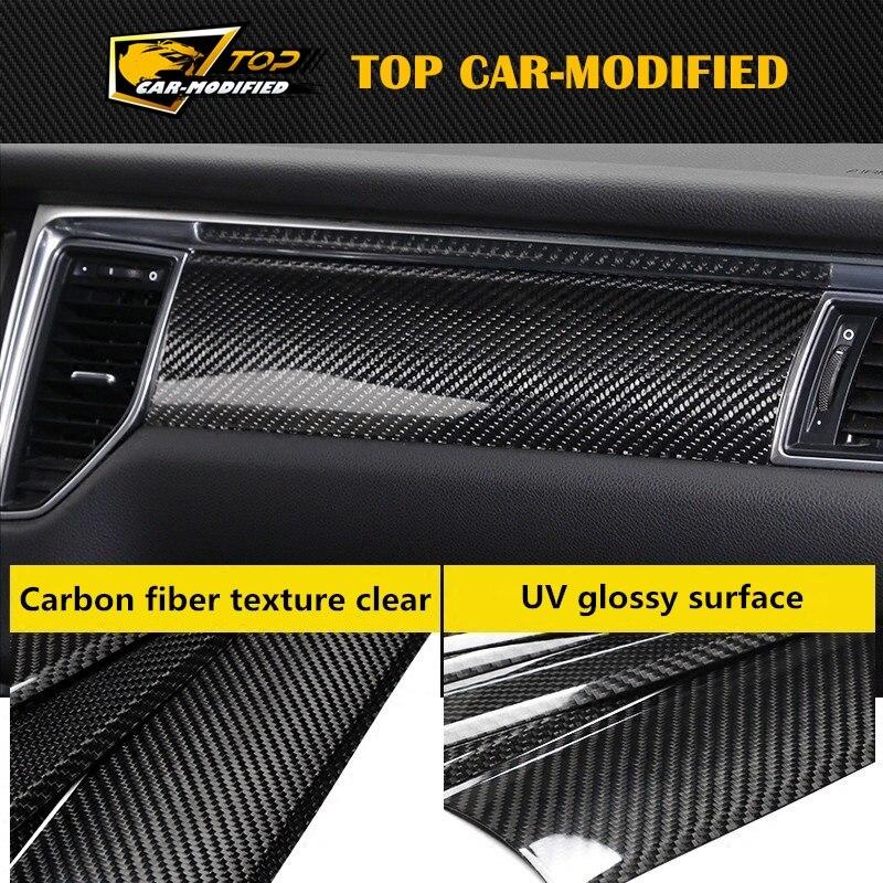 Топ автомобиля изменение углеродного волокна внутренней отделки двери TRMS для порш Макан
