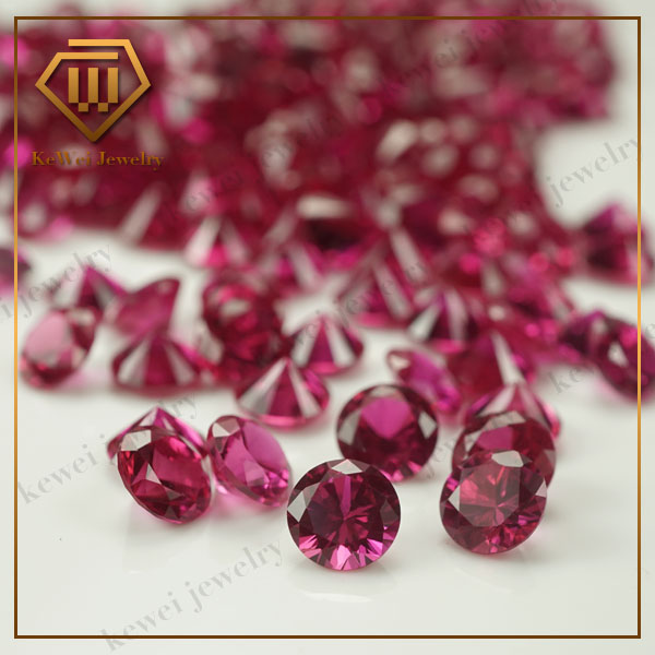 Wholesale 5# 1000pcs Red Stone 1.0mm-3.0mm Round Cut Shape Synthetic Corundum Stone For Jewelry