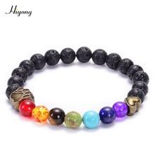 все цены на Dog Claw Bracelet 7 Chakra Healing Balance Beads Lava Stone Bracelets Reiki Buddha Prayer Natural Stone Yoga Meditation Jewelry