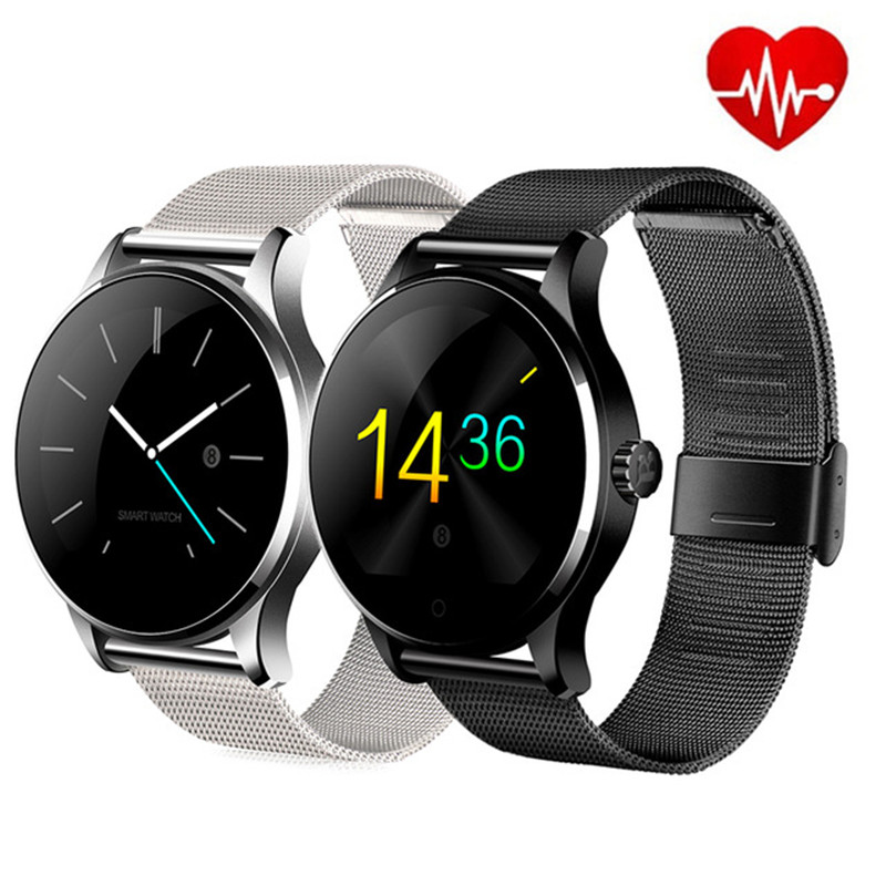 Reloj inteligente K88H Bluetooth MTK2502 control de voz reloj inteligente impermeable con podómetro de batería potente