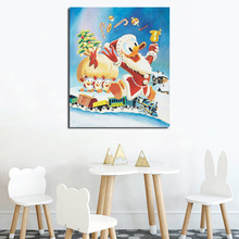 Scrooge McDuck Duck Christmas Canvas Painting Print Living Room Home Decor Modern Wall Art Cartoon Oil Poster Pictures