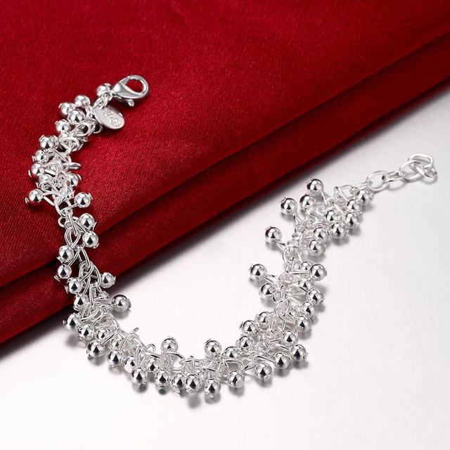 silver plated bracelets for women Twisted Thick chain wedding jewelry Silvery white Trendy minimalistic Luxurious H017