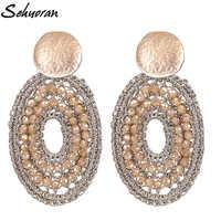 Sehuoran Bobo Oorbellen cuentas de cristal hechas a mano pendientes de gota para mujer pendientes exposición joyería de moda regalos de fiesta