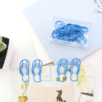 Clog Styling Paper Clip Cute Paperclip Bookmark Kawaii Stationery Office Clips Decorative Metal