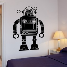 Hot selling Cartoon Robot  Boys Love Wall Vinyl Decal Removable Kids Room Decoration Home Decor