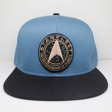 5333aa99a5050 2017 TV Series Star Trek  Discovery Starfleet Logo United Federation of  Planets Embroidery Blue Snapback