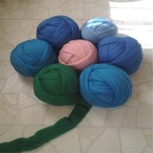 1kg/ball 100% Giant Super Chunky merino wool Yarn 19 microns wool yarn  Super- THICK Yarn  For Chunky Blankets  free shiping