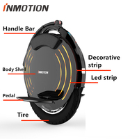 Original INMOTION V10 V10F Self Banlance Scooter Inner Outer Tire Handle Bar Body Shell Pedal Protect Cover Charger Accessories