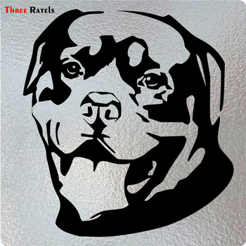 Three Ratels LBH332 #13.9x15cm funny car sticker lovely Rottweiler Vinyl Decal car stickers and decals carcardo 40cm x 200cm car headlight taillight tint vinyl film sticker car smoke fog light viny stickers decals car styling