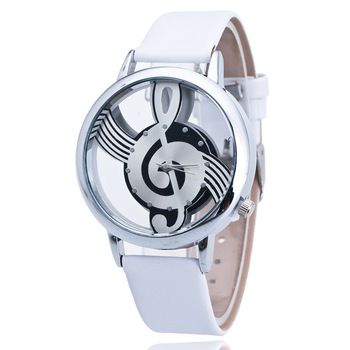 2018 New Music Symbols Hollow Retro Watches Simple Fashion Generous Real Gifts Cool Watches Leather Quartz Watches