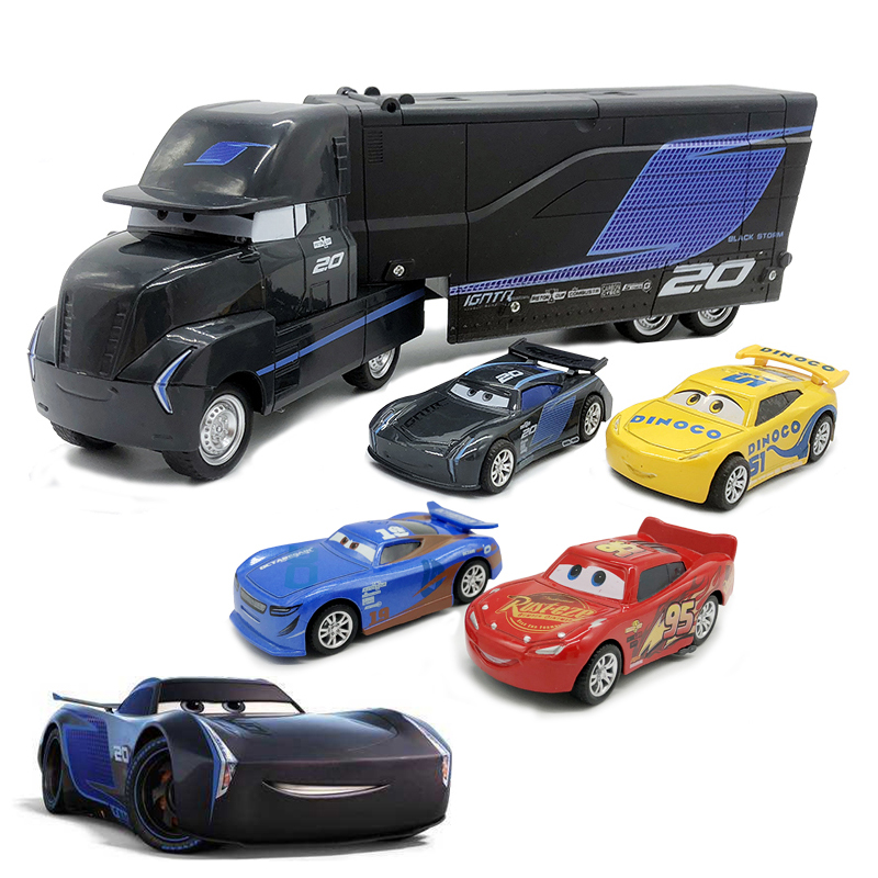 Disney Pixar Cars 2 3 Jackson Storm Truck Mack Uncle Toys Lightning McQueen 1:55 Diecast Model Car Toy Children Birthday Gift