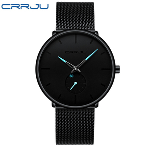 Image 5 - CRRJU Fashion Casual Mens Watches Waterproof Army Military Sport Analog Quartz Wristwatch For Men Gift Clock Relogio Masculino