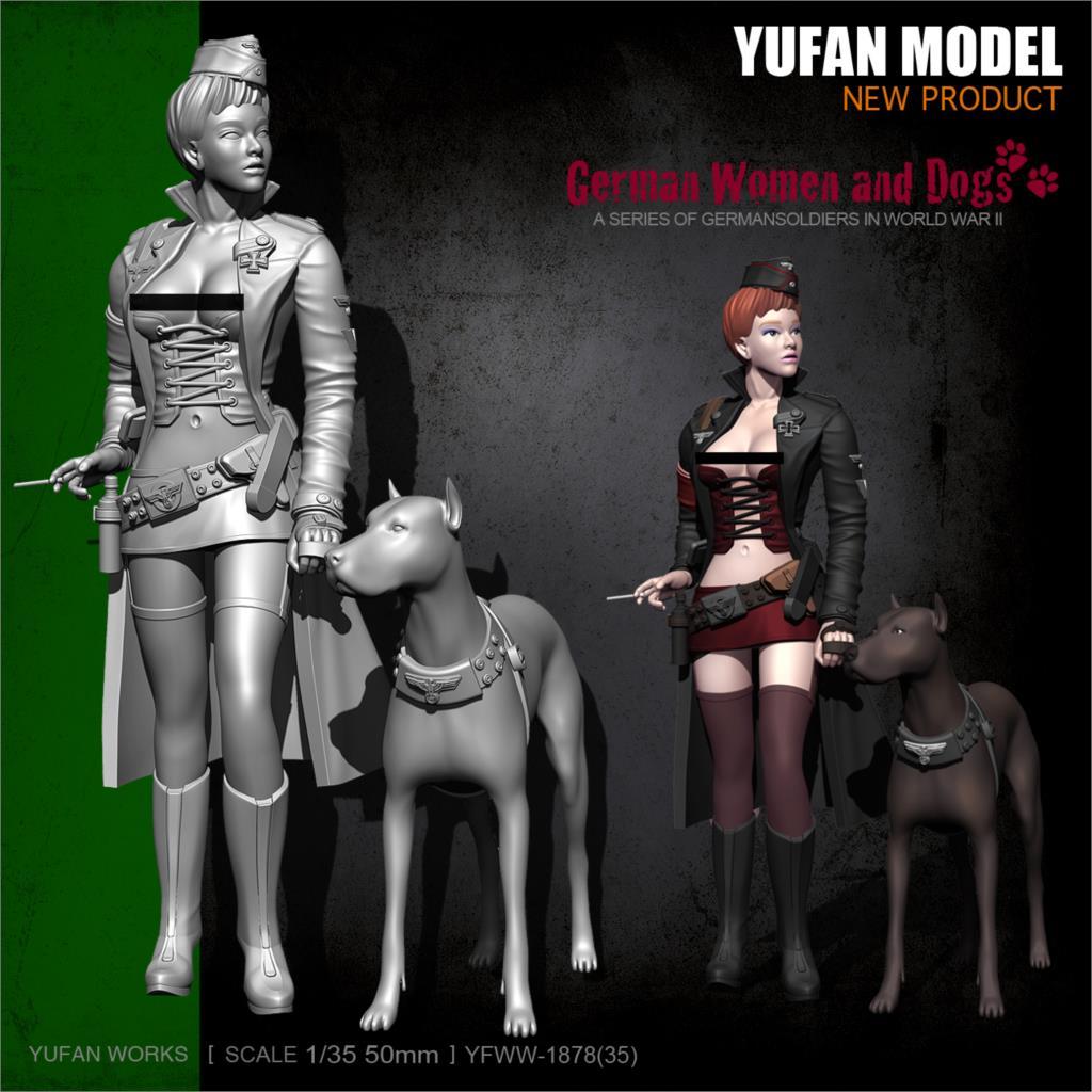 YuFan Model And Sail Original 1/35 World War II Female Officer Resin Soldier YFWW35-1878 KNL Hobby