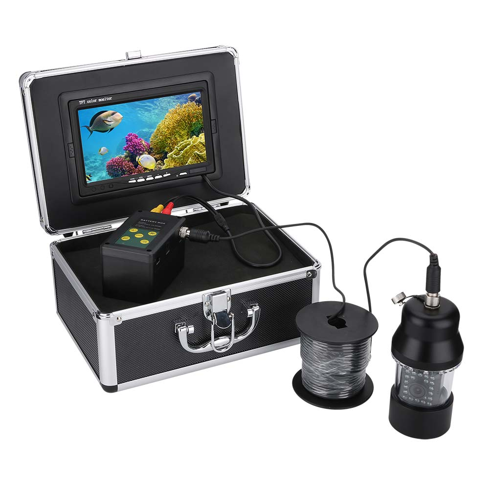 Ice Underwater Fishing Video Camera Fish Finder 7 quot DVR Video Recorder Sea Fishing Monitor 22 LEDs With 8GB SD IP68 Fishfinder in Fish Finders from Sports amp Entertainment