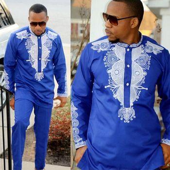 Men top pant set 2 pieces outfit set African men clothes