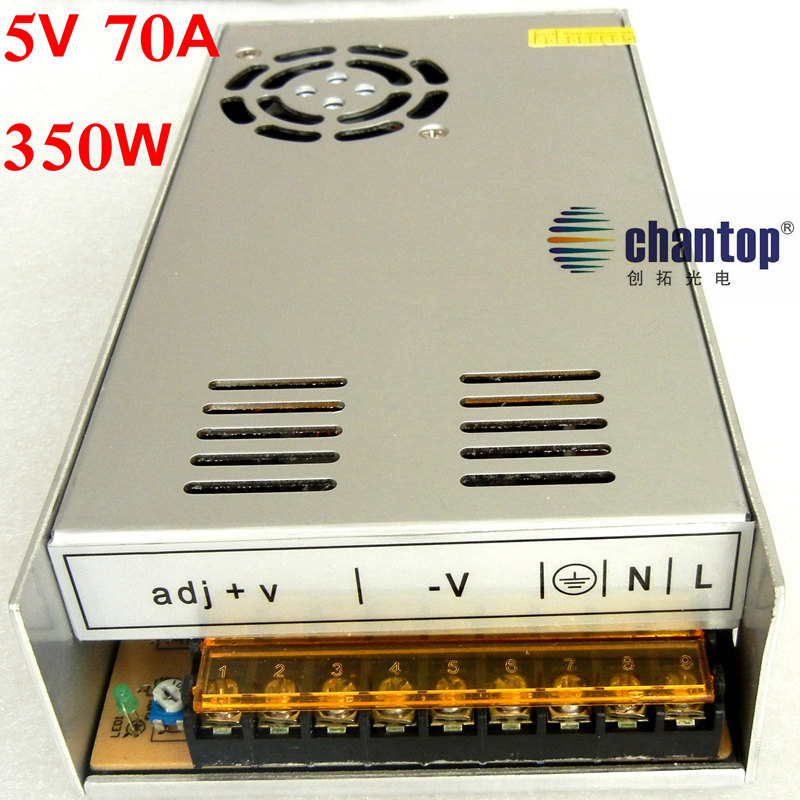 Free Ship DC 5V 70A 350W LED Driver switch Power Supply Adapter Transformer AC 110v 220v converter for led strip lamp dc power supply 13 5v 74a 1000w led driver transformer 110v 240v ac to dc13 5v power adapter for strip lamp cnc cctv