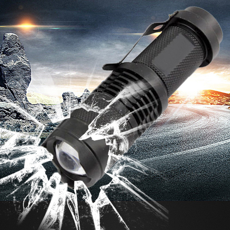 Mini penlight LED Flashlight Torch 2000LM Waterproof 3 Modes zoomable Adjustable Focus Lantern Portable Light use AA Battery free shipping cree led flashlight 3 modes zoomable torch penlight flashlight portable lighting