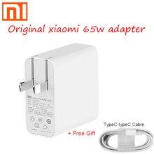 Originale xiaomi 65w USB C adattatore di alimentazione di routing a casa carica veloce di ricarica mobile del caricatore del computer portatile tipo c interfaccia