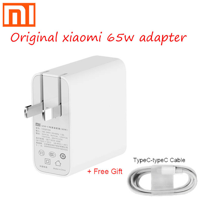 Originele Xiaomi 65W USB C Power Adapter Routing Home Fast Charging Mobiele Computer Lader Draagbare Type C Interface