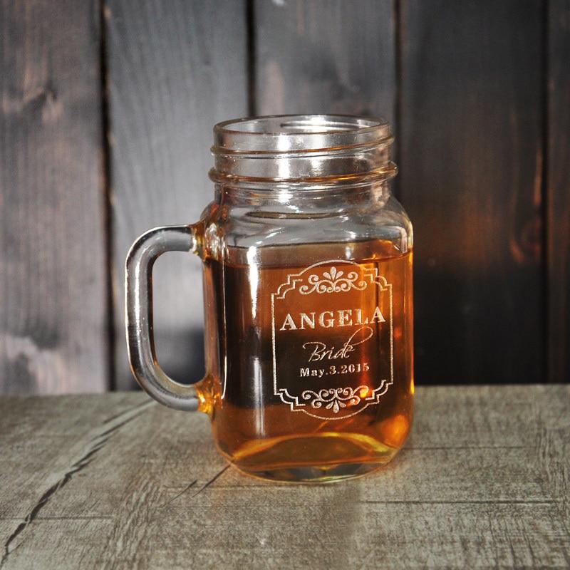 Vasos personalizados favores de la boda taza de t regalos de boda para padrinos grabado - Vasos personalizados ...