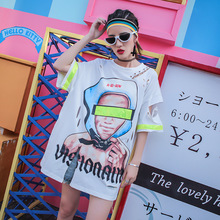 Hip-hop Style Personality Print Long T S