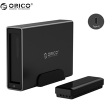 ORICO NS100C3 Aluminum Type-C Hard Drive Dock USB3.1 to SATA3.0 Hard Drive Enclosure Support UASP 12V Power MAX 10TB Capacity